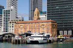 Terminale di traghetto di Auckland Immagine Stock