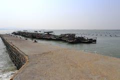 Terminale di traghetto di Xiaodeng in città amoy fotografia stock libera da diritti