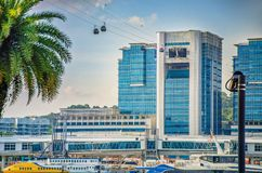 Terminale di traghetto nel centro di HarbourFront a Singapore fotografia stock