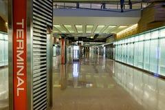 Terminale di transito dell'aeroporto Fotografia Stock Libera da Diritti