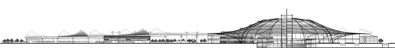 Terminale di trasporto della sezione Immagini Stock