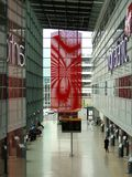 Terminale Heathrow di partenza di Virgin Atlantic Immagine Stock