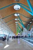 Terminale T4 all'aeroporto di Madrid fotografia stock