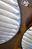 Terminale T4 dell'aeroporto del `s di Madrid Fotografia Stock