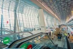 Terminale 3 ultimo, aeroporto di Soekarno-Hatta, Jakarta l'indonesia fotografia stock libera da diritti