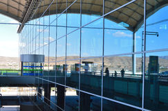 Terminalen på den Alicante flygplatsen Royaltyfria Bilder