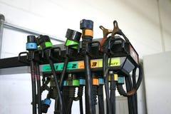 Terminales de componente de prueba automotores Imagen de archivo