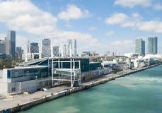 Terminales del barco de cruceros de Miami Foto de archivo libre de regalías