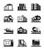 Terminales del tanque de aceite Fotos de archivo