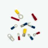 Terminales y terminales de anillo del cable Imagenes de archivo