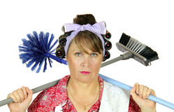 Terminally Bored Housewife Stock Photo
