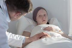 Terminally ill girl Stock Photos