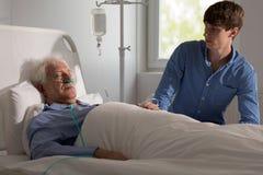 Terminally ill man Royalty Free Stock Photography