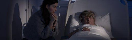 Terminally ill mum Stock Image