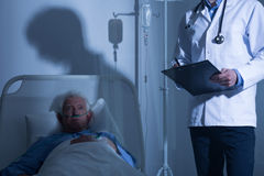 Terminally ill patient in hospice Royalty Free Stock Photos
