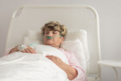 Terminally ill woman Royalty Free Stock Photography