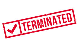 Terminated rubber stamp Royalty Free Stock Photography