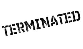 Terminated rubber stamp Royalty Free Stock Photo