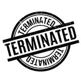 Terminated rubber stamp Stock Image