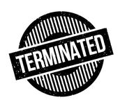 Terminated rubber stamp. Grunge design with dust scratches. Effects can be easily removed for a clean, crisp look. Color is easily changed Stock Photo