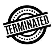 Terminated rubber stamp. Grunge design with dust scratches. Effects can be easily removed for a clean, crisp look. Color is easily changed vector illustration