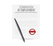 Termination of employment document Royalty Free Stock Photos