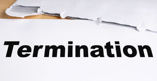Termination letter Stock Photography