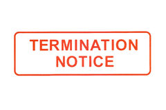 Termination Notice Rubber Stamp Royalty Free Stock Photo