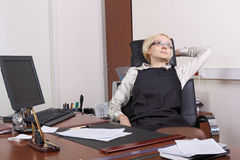 The termination of the working day Stock Photo