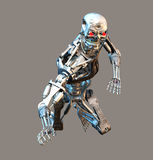 Terminator. 3d robot for your artistic creations and/or projects Stock Image