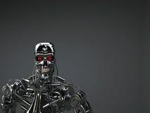 Terminatore del robot Fotografia Stock Libera da Diritti