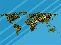 Termine dei media sociali Immagini Stock Libere da Diritti