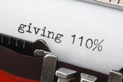 Termine di affari sulla retro macchina da scrivere Immagine Stock