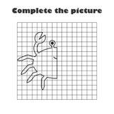 Termine a imagem, caranguejo branco preto dos desenhos animados, treinamento de habilidades de tiragem, jogo educacional de easte ilustração royalty free