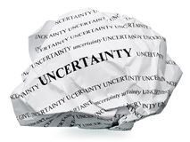 Termine a incerteza Imagem de Stock Royalty Free