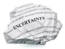 Termine la incertidumbre Imagen de archivo libre de regalías