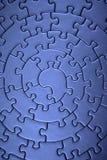 Termine los rompecabezas azules granangulares Fotografía de archivo