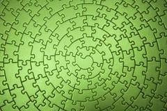 Termine los rompecabezas verdes granangulares Imágenes de archivo libres de regalías