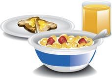 Termine o café da manhã ilustração royalty free