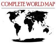 Termine o mapa de mundo Imagens de Stock Royalty Free