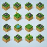 Termine a série isométrica das telhas Foto de Stock