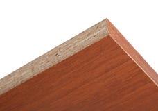Terminez la plaque stratifiée par visage de la miette en bois appuyée photographie stock