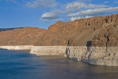 Termini di siccità sull'idromele del lago Immagini Stock Libere da Diritti