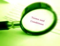Termini e condizioni generali della lettura Fotografia Stock Libera da Diritti