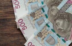 Termini nominali di /the dei soldi polacchi di zloty più alti immagine stock