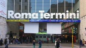 Termini Railway Station Main Entrance. Rome,Italy - January 2016: Termini Railway Station Main Entrance in Rome Italy stock video