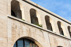 Termini Station, archways. Detail of the railway station in rome Royalty Free Stock Photography