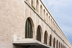 Termini Station, archways. Detail of the railway station in rome Stock Image