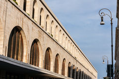 Termini Station, archways. Detail of the railway station in rome Stock Photography