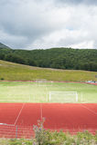 Terminillo, Itália - 11 de agosto de 2016 Campo de esportes Enrico Leoncini Imagem de Stock